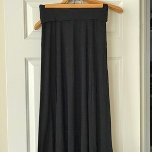 A black maxi skirt
